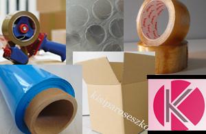 ragasztószalag, pukkanós fólia, egyéb csomagolóanyagok