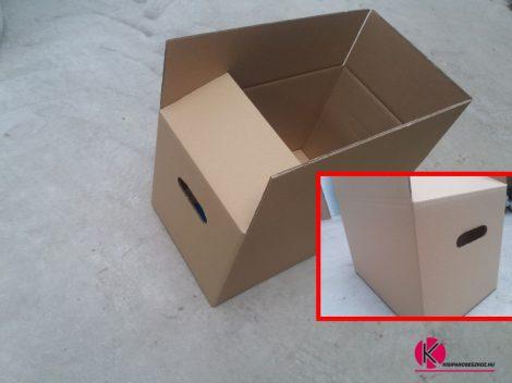 Költöztető doboz 500x310x310mm (fogófüles doboz)